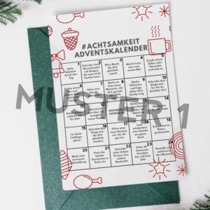 """Postkarte """"Achtsamkeit-Adventskalender"""